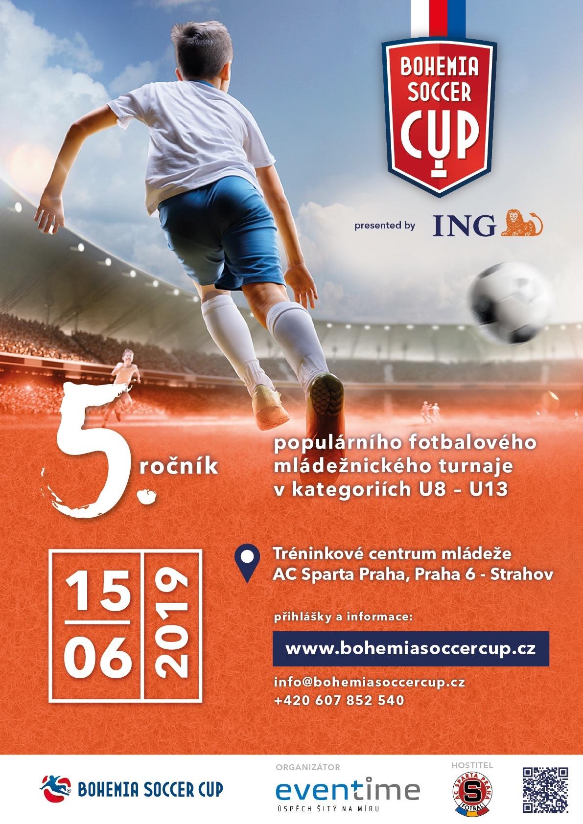 5.ročník ING Bohemia Soccer Cup se uskuteční v sobotu 15.6.2019 v tréninkovém centru AC Sparta Praha